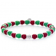 Green and red elastic women's tire Gerba bracelet - DENNIS