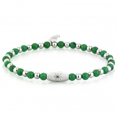 Elastic green elephant woman's tire Gerba bracelet - FOUR GREEN