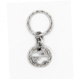Silver Gucci Keychain Interlocking Keychain - YBF45530800100U