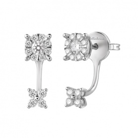 Earrings small Salvini collection Daphne Shine in white and brilliant gold