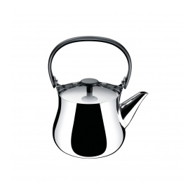 Alessi stainless steel kettle with handle and resin knob