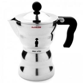 Alessi Espresso Kaffeemaschine in Edelstahl Moka Linie