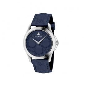 Gucci timeless blue leather watch - YA1264032