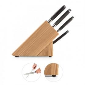 Ceppo di coltelli da cucina Classe in legno naturale