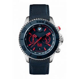 Ice BMW Motorsport Steel Watch - blue red indexes
