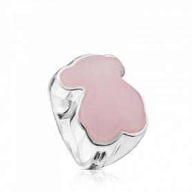 Anello Tous New Color orso in quarzite rosa - 615435591