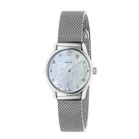 Gucci Watch G-Timeless Quartz Slim Mother of Pearl - Milanese - YA126583