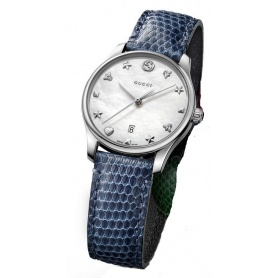 Orologio Gucci G-Timeless Quarzo Slim Blu madreperla- YA126588