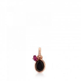Tous pendant in rosé and onyx - 712314610