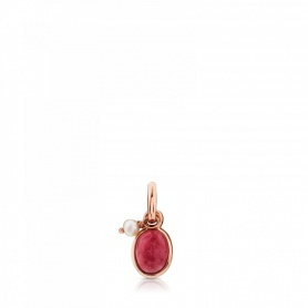 Tous silver pendant in rosé and rhodocrosite silver - 712314620