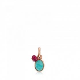 Ciondolo Tous in argento rosè ed amazzonite - 712314540