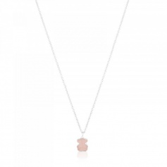 Tous New Color Necklace with Pink Quartz Teddy Bear - 615434570