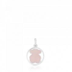 Pendant Tous Camille small with pink quartz - 712164660