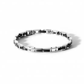 Bracciale in acciaio e diamante - UBR576