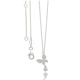 Mimì Necklace with White Gold and Diamond Butterfly - P656B8B