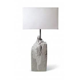 Lladrò Lampe Frau meditiert in Porzellan - 01008551