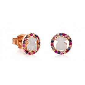 Orecchini Tous Camille con madreperla pietre multicolor - 712163520