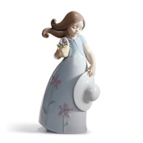 Lladrò Little Violet Sculpture in Porcelain - 01008043