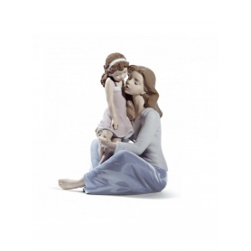 Sculpture Lladrò Mommy's Little Girl in Porcelain - 01008623