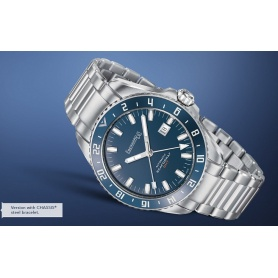 Men's watch Eberhard Scafofraf GMT blue dial - 41038