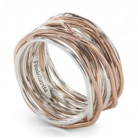 Anello Filodellavita a tredici fili in argento e oro rosa - AN13AR