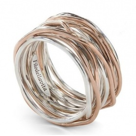 Thirteen wire filodellavita ring in silver and pink gold - AN13AR