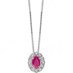 Bliss Regal Halskette mit Rubuno und Diamanten - 20073986