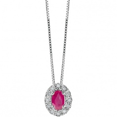 Bliss Regal Necklace with Rubuno and Diamonds - 20073986