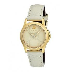 Gucci Watch G-Timeless Signature Small White Leather - YA126580