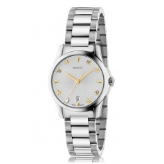 Gucci G-Timeless Medium silver Guilloche milanese-YA126572