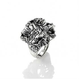 Boule ring Bouquet Silver burnished butterflies - GR9798/14