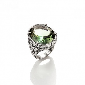 Raspini ring with hammered silver hammered quartz - 9398/16