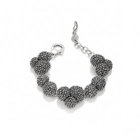 Raspini Bracelet Flower of Alba burnished silver - 9766