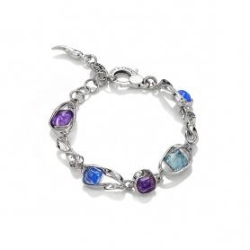 Raspini Silver high line bracelet and hydrothermal quartz - 9882