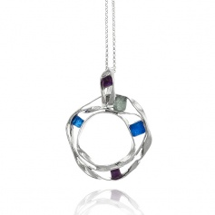 Raspini necklace High line silver and quartz hydrothermal - 9882