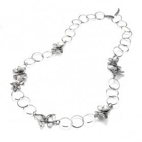 Raspini collana Longuette Farfalle e cerchi argento - 9804