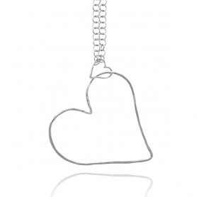 Raspini pendant necklace Silver air shape heart - 9896