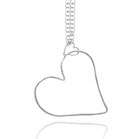 Raspini pendant necklace Silver air shape heart - 9896