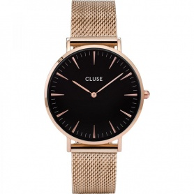 Closed woman's watch La Bohème Mesh black rose- CL18113