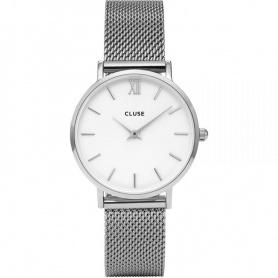 Clutch Uhr Frauen La Bohème Mesh Silber - CL30009