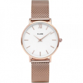 Orologio Cluse donna Minuit Mesh rosè bianco - CL30013