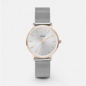 Closed Women's Minuit Satin Gold Mesh Watch - CL30025