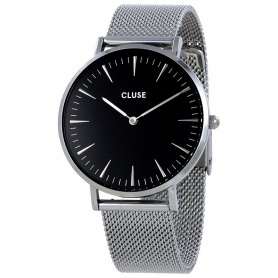 Unisex Close Watch La Bohème Mesh silver black - CL18106