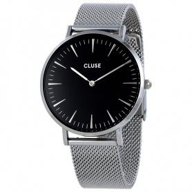 Unisex Schließen Uhr La Bohème Mesh silber schwarz - CL18106