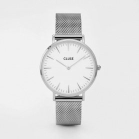 Unisex Closed Watch La Bohème Mesh silver classic - CL18105