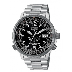 Citizen Promaster Pilot Steel Watch Black Dial - AS2020-53E