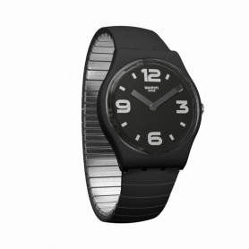 Swatch Blackhot L Black Watch - GB299A