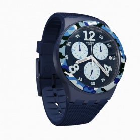 Swatch Camoblu Chronograph Watch - SUSN414