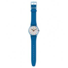 Swatch Color Quadratische blaue Unisexuhr - SUON125