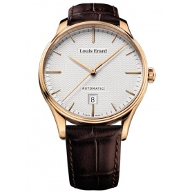 Louis Erard Heritage Automatic Leather Watch - 68287PR31
